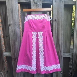 Lilly Pulitzer Dress Size 10 Pink with White lace